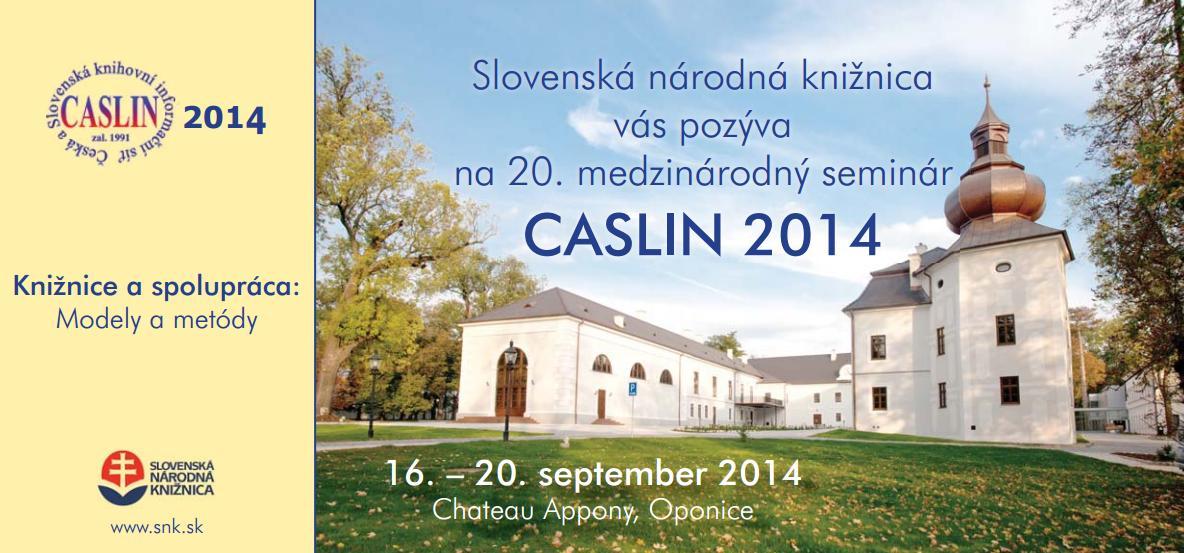 CASLIN 2014 pozvanka