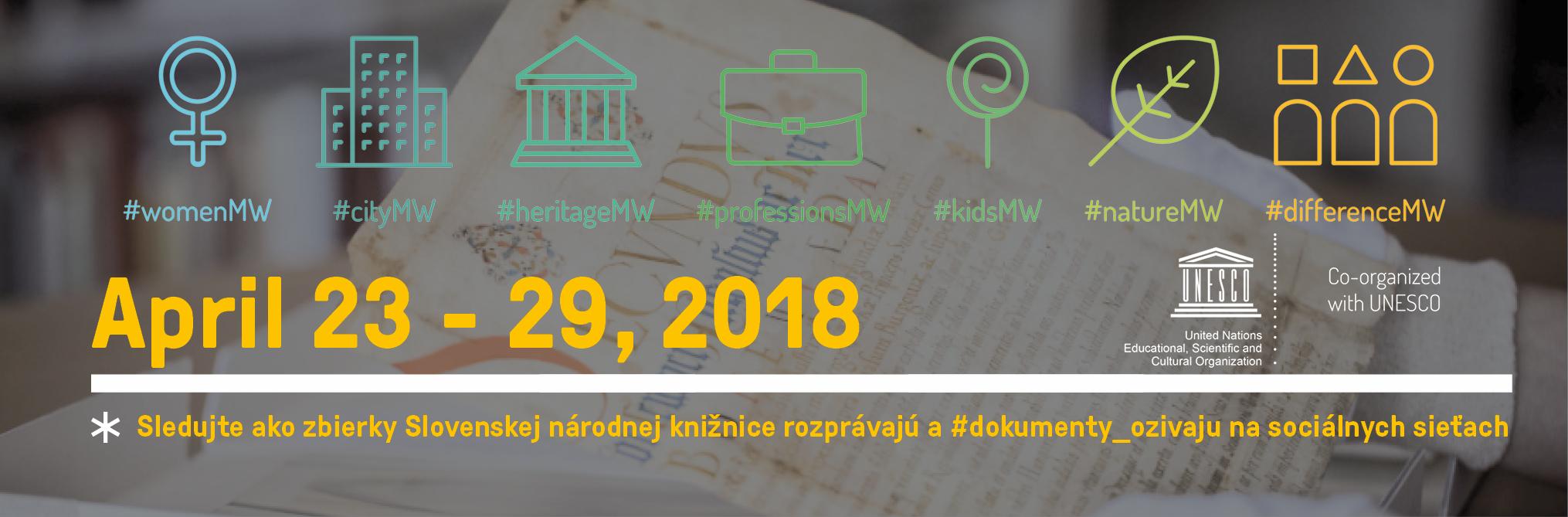 Slovenská národná knižnica - MuseumWeek 2018 alebo, keď zbierky rozprávajú