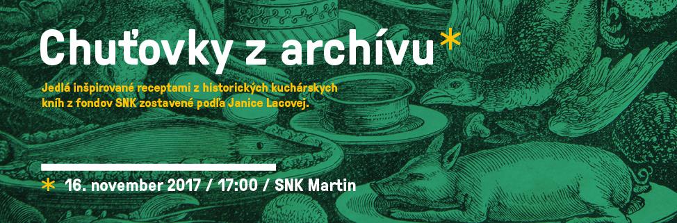 Slovenská národná knižnica - Kultúra na kopci - Chuťovky z archívu