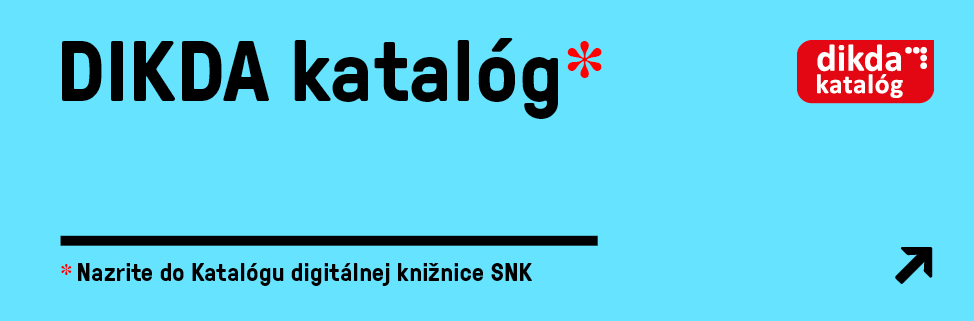Slovak National Library - Digital Library Catalogue